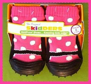 NEW Skidders PINK & WHITE POLKA DOT Girls Shoes TODDLER, INFANT, BABY