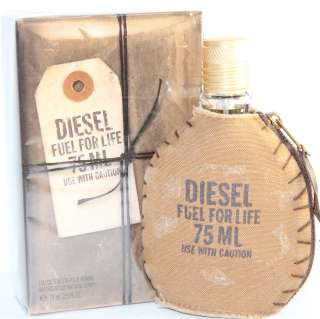 FUEL FOR LIFE BY DIESEL 2.5 OZ EDT SPRAY FOR MEN NEW IN BOX