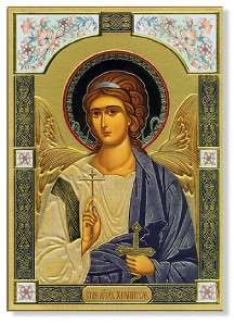 Guardian Angel Protector Gold AUTHENTIC Russian Icon