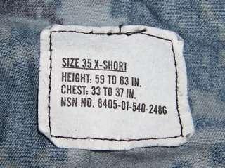 US Navy NWU Uniform Blue Digital Camo Shirt 35 Extra Short