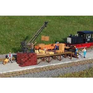 LOADING CRANE   PIKO G SCALE MODEL TRAIN BUILDINGS 62077 Toys & Games