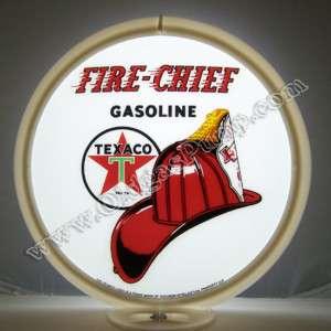 TEXACO FIRE CHIEF GASOLINE GAS PUMP GLOBE OIL FREE S&H