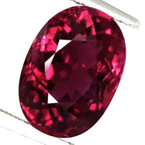 96ct Notable Oval Natural Vivid Pink Red Rubelite