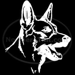 German Shepherd dog vinyl wall art car truck decal 123