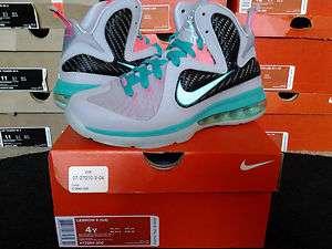 Nike Air Zoom Max Lebron James IX 9 PS GS South Beach Miami Vice Heat