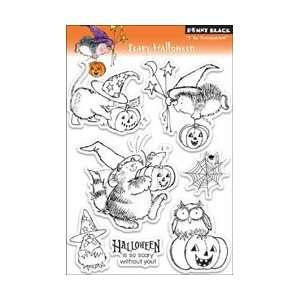 Penny Black Clear Stamps 5X7.5 Sheet Scary Halloween