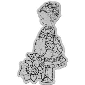Penny Black Cling Stamp 4X5.25 Flower Girl: Arts, Crafts