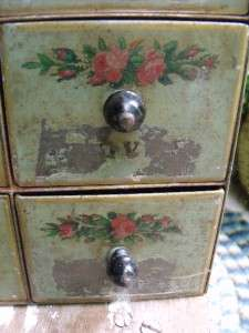Rustic Shabby Primitive Antique Tin Wall Mount Spice Box Original