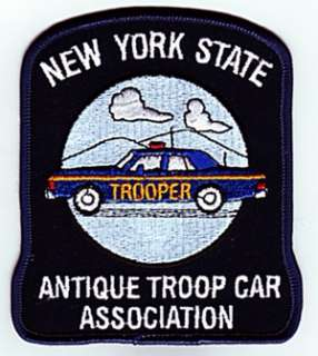 NEW YORK STATE ANTIQUE TROOP CAR ASSOCIATION   PATCH