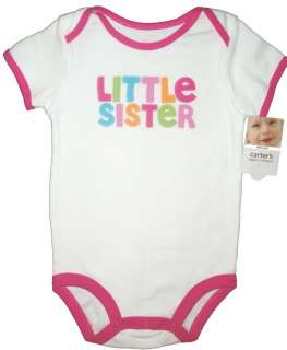 QUOTES BODYSUIT CARTERS BABY GIRLS BOYS ONESIE NB TO 18 MO NWT NEW