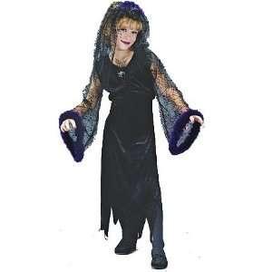 Wicked Black Widow Costume Girl   Child Medium 8 10 Toys
