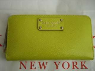 Kate Spade WELLESLEY NEDA Yellow Leather Wallet $195