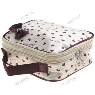 Heart Pattern Make up Hand Bag with Mirror + Bowknot NBG 56978