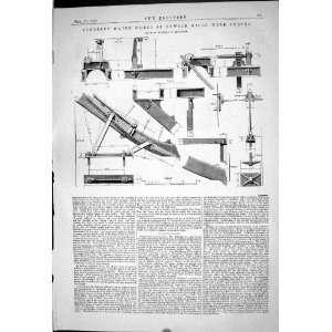1869 PONCELET WATER WHEEL EXWICK MILLS EXETER MACHINERY