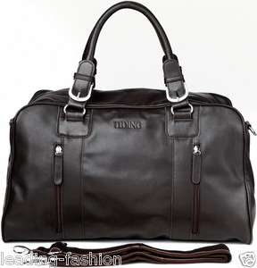 Thanksgiving Day Gift Mens Nappa Leather Tote Travel Duffle Gym Bag