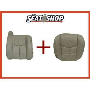 06 Chevy Tahoe GMC Grey Leather Seat Cover bottom & top RH Automotive
