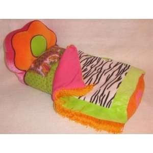 13 Groovy Girls Plush Zebra Print Bed