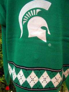 NEW NCAA MICHIGAN STATE SWEATER SPARTANS Cardigan SZ L LADIES Fast
