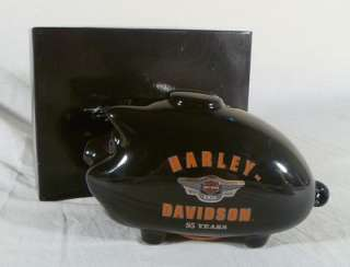 HARLEY DAVIDSON 95 YEAR ANNIVERSARY BLACK HOG PIGGY COIN BANK GAS TANK