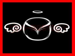 MAZDA 3D Angel Wings JDM Decal Sticker Car Emblem logo