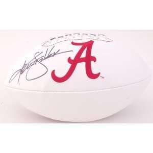 Ken Stabler Signed Alabama Logo Ball   JSA   Autographed College