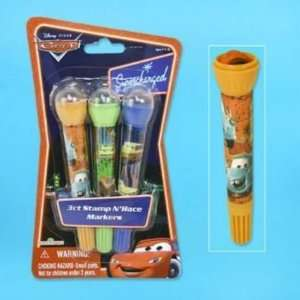 Markers 3 Pack Roll Stamp Cars Stationery Case Pack 48