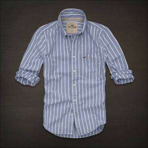 NWT HCO HOLLISTER Mens Emerald Bay Seagull Striped Casual Shirt NEW