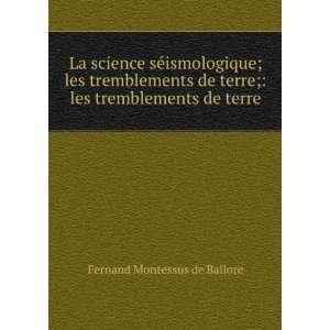 Suess . 222 .: comte de Fernand Montessus de Ballore Fernand Montessus
