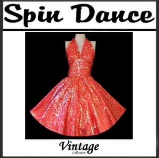 50s Vintage Style Pin Up Plus Size Formal Swing Dance Dress New