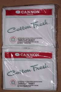 Cannon Monticello Cotton Fresh Sheets Lot Of Two NIP