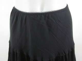 AVENUE MONTAIGNE Black Pleated Full Length Skirt Sz S