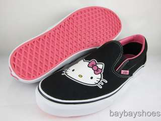 VANS SLIP ON HELLO KITTY BLACK/WHITE/PINK MENS ALL SIZE