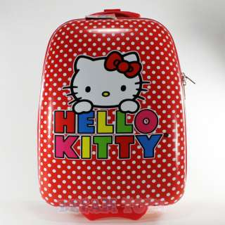 Sanrio Hello Kitty Polka Dot Red Kids Luggage Suitcase   Travel Roller