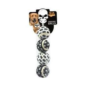 Tuffys Silly Squeaky  Skull Ball Small 4 pack: Pet