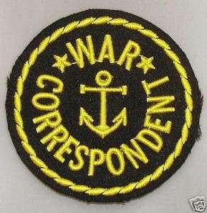 c0158 WWII Navy War Correspondent Shoulder Patch