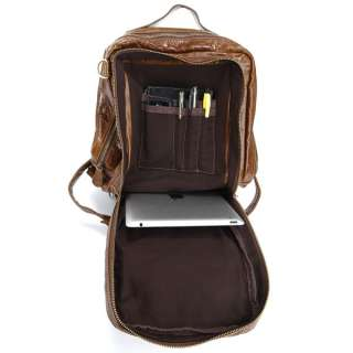Cowboy Real Leather Hiking Camping Travel bag Backpack