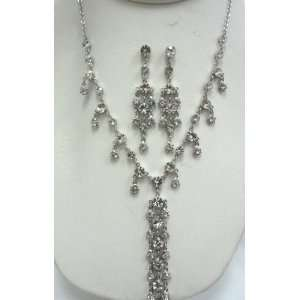Bridal Wedding Rhinestone Jewelry Set Necklace and Earring