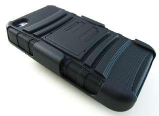 BLACK RUGGED HARD CASE COVER BELT CLIP HOLSTER APPLE IPHONE 4 4S