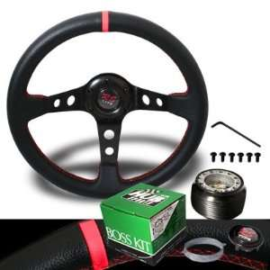 1999 2005 Mazda Miata Red Stitches Drift Style Steering Wheel with Hub