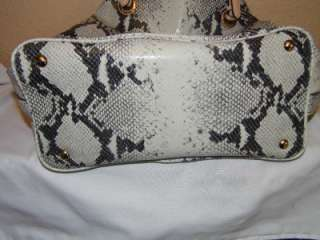 Michael Kors Patent Leather Python Snake Skin Grab Bag Tote Authentic