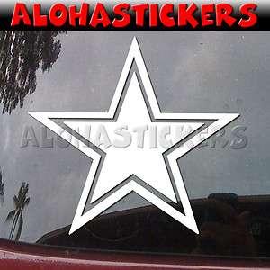 COWBOY STAR Vinyl Decal Texas Dallas Truck Sticker M49