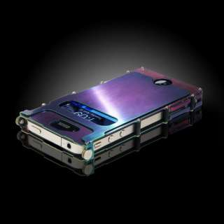 Luxury Stainless Steel Case Cover for iPhone 4/4S with protective film