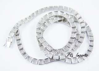 GOLD PLATED CUSTOM 1 ROW CHAIN PAVE ICED OUT HIP HOP ICY WHITE CZ ICE