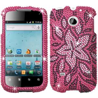 CRYSTAL BLING DIAMOND CASE COVER HUAWEI ASCEND 2 FLOWER