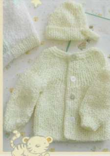 Baby Knit/Crochet Patterns Christening Gown Preemie Set Booties Hat