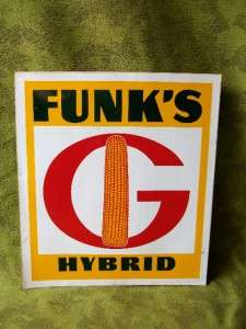 Funks G Hybrid Seed Vinyl Stick on Sign 9x10 New Old Stock