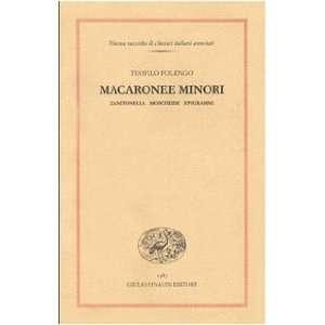 Macaronee minori: Zanitonella Moscheide Epigrammi (Nuova raccolta di