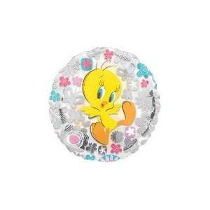 18 Looney Tunes Tweety Clearly Flowers   Mylar Balloon