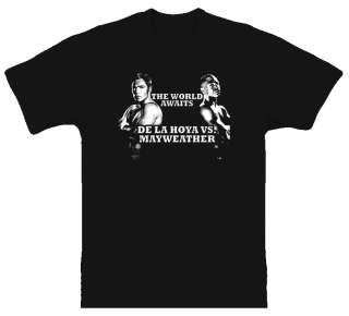 De La Hoya Vs Mayweather Boxing Black T Shirt