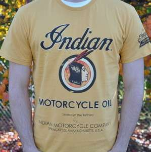 Indian Motorcycle Vintage Oil Can Short Sleeve T Shirt   2862307